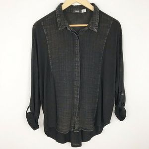 Urban Outfitters BDG XS Oversized Button-Front Top